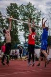 Конкуренция волейбола дилетанта Стоковая Фотография RF