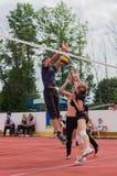Конкуренция волейбола дилетанта Стоковые Фото