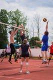 Конкуренция волейбола дилетанта Стоковые Фотографии RF