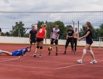 Конкуренция волейбола дилетанта Стоковое Изображение