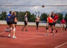 Конкуренция волейбола дилетанта Стоковые Изображения