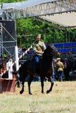 Конкуренция всадников лошади Стоковые Изображения