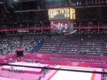 Конкуренция гимнастики на Олимпиадах 2012 Лондона Стоковые Фото