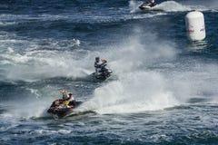 Конкуренция гонки лыжи двигателя Стоковая Фотография