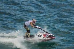 Конкуренция гонки лыжи двигателя Стоковые Изображения RF