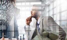Конкуренция и стратегия в деле Мультимедиа Стоковые Изображения