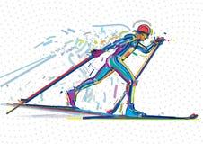 Конкуренция катания на лыжах Стоковое Изображение