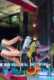 Конкуренция Сингапур танца льва Стоковая Фотография
