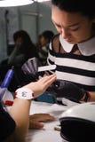 Конкуренция стилизаторов ногтя в Казахстане astana 10-ое ноября 2017 Стоковое фото RF