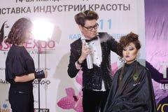 Конкуренция стилизаторов ногтя в Казахстане astana 10-ое ноября 2017 Стоковые Фотографии RF