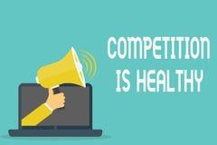 Конкуренция текста почерка здорова Соперничество смысла концепции хорошо в любом рискованом начинании водит к улучшению иллюстрация вектора