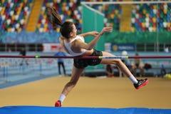 Конкуренция турецкого атлетического порога федерации олимпийского крытая Стоковые Изображения