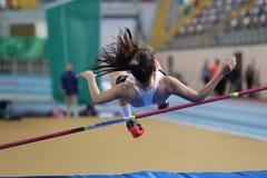 Конкуренция турецкого атлетического порога федерации олимпийского крытая Стоковое Изображение