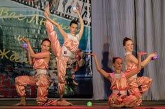 Конкуренция хореографического танца коллективов жизни в городе Kondrovo зоны Kaluga в России в 2016 Стоковые Изображения RF