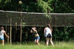 Конкуренция для волейбола дилетанта в зоне Kaluga в России Стоковая Фотография