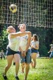 Конкуренция для волейбола дилетанта в зоне Kaluga в России Стоковое Изображение