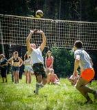Конкуренция для волейбола дилетанта в зоне Kaluga в России Стоковые Изображения