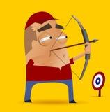 Конкуренция Archery иллюстрация вектора