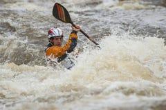 Конкуренция Kayaker Стоковое Изображение