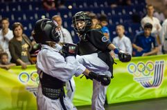 Конкуренция Kobudo между девушками Стоковое Изображение RF
