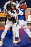 Конкуренция Kobudo между девушками Стоковое фото RF