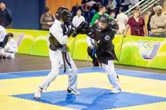 Конкуренция Kobudo между мальчиками Стоковое фото RF