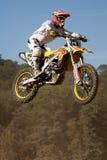 Конкуренция Motocross Каталонская лига гонки Motocross Стоковая Фотография RF