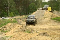 конкуренция nissan с дороги патруля Стоковая Фотография