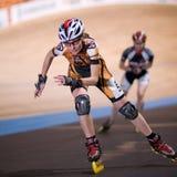 конкуренция speedskating Стоковое фото RF