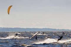конкуренция windsurf Стоковые Фотографии RF