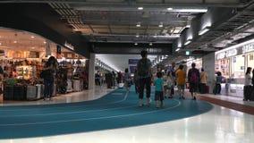 Конкурс международного аэропорта Narita третий терминальный сток-видео