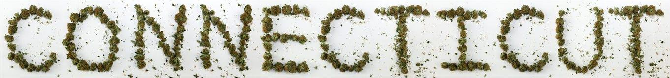 Коннектикут сказал по буквам с марихуаной стоковое изображение rf