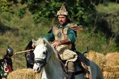 Конноспортивная демонстрация в традиционных костюмах стоковое фото rf