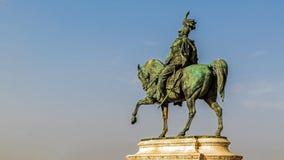 Конноспортивная статуя Виктора Emmanuel II Стоковая Фотография