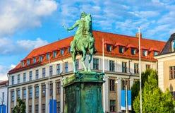 Конноспортивная статуя короля Карл IX в Гётеборге Стоковое Изображение
