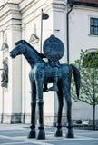 Конноспортивная статуя маркграфа Jobst Люксембурга, Брна Стоковые Изображения