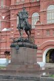 Конноспортивная статуя маршала Georgy Zhukov стоковые изображения rf