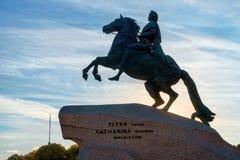 Конноспортивная статуя Питера большой бронзовый наездник, pe Святого Стоковая Фотография RF