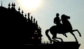 конноспортивная статуя стоковая фотография rf