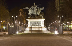 Конноспортивная статуя Ferdinando di Savoia в Турине Италии Стоковое фото RF