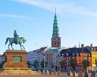 Конноспортивная статуя Frederik VII, Копенгаген, Дания Стоковая Фотография RF