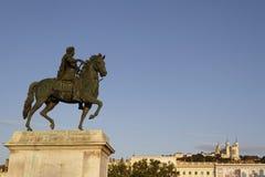 конноспортивная статуя XIV короля louis Стоковая Фотография