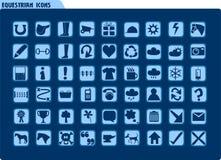 конноспортивные иконы Стоковое Фото