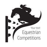 Конноспортивные конкуренции - иллюстрация вектора лошади Стоковое Фото