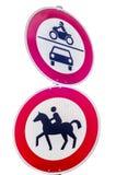 Конноспортивный дорожный знак всадника Стоковое Изображение RF