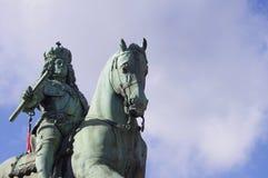 Конноспортивный памятник от января Wellem Стоковое Изображение RF