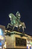 Конноспортивный памятник Emanuele Filiberto в Турине, Италии Стоковые Изображения RF