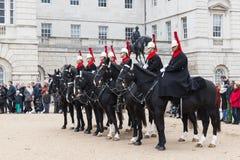 Конные охраны вне конногвардейского полка Стоковая Фотография RF