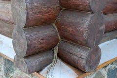 Конопатить linen шнур и прерванный в обломоки Стоковое Изображение