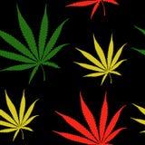 Конопля покидает безшовная картина, засоритель пеньки выходит поверхностная картина, предпосылка картины повторения марихуаны для бесплатная иллюстрация